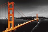 A Glowing Golden Gate Bridge San Francisco