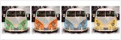 California Camper Vans Volkswagen Pop Art