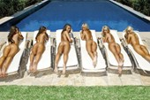 Sunbathing Beauties Pin Up Girls