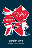 The Union Flag for the London 2012 Olympics Games of The XXX Olympiad