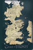 The Seven Kingdoms of Westeros Map Game of Thrones