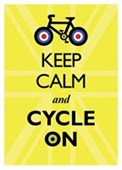 Keep Calm &amp; Cycle On Keep Calm &amp; Carry On