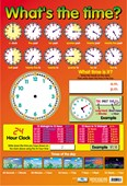 What's The Time Educational Children's Chart