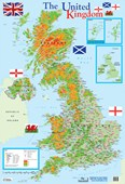 Map of The United Kingdom Educational Map