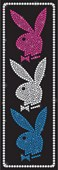 Pink, White and Blue Bling Hugh Heffner's Playboy