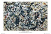 Silver on Black By Jackson Pollock