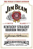 Jim Beam Whiskey Bottle Label