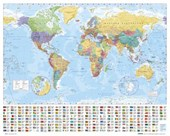 World Map with Flags Map of the World