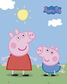Peppa and George Enjoying The Sun Peppa Pig