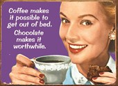 Coffee makes it Possible Retro Humour