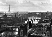 Black and White Landscape Paris, France