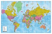 Political and Terrain Map World Map