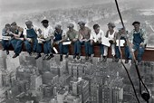 Eating Lunch above New York Men on a Girder