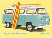 1960's Camping Companion VW Bay Window Kombi