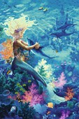 Ocean Hug Mermaid and Dolphins