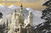Snow Covered Castle Schloss Neuschwanstein
