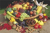 Fruit, Vegetables and Nuts Autumn Foods