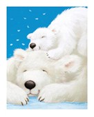 Fluffy Bears Having A Nap by Alison Edgson
